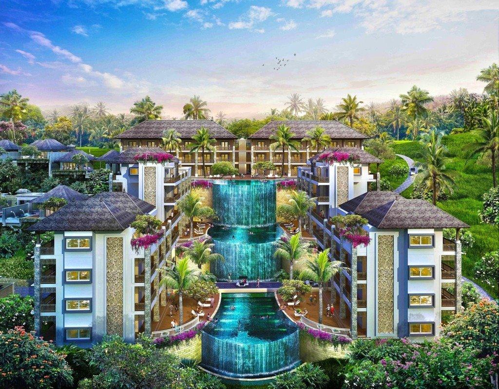 Hotel a Ubud con piscina a sfioro