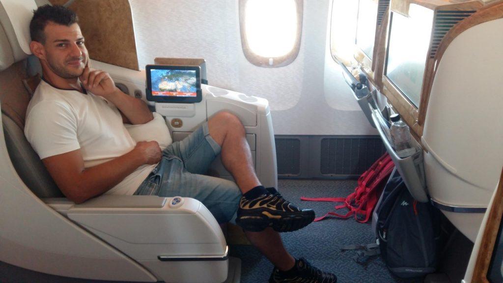 Emirates a bordo
